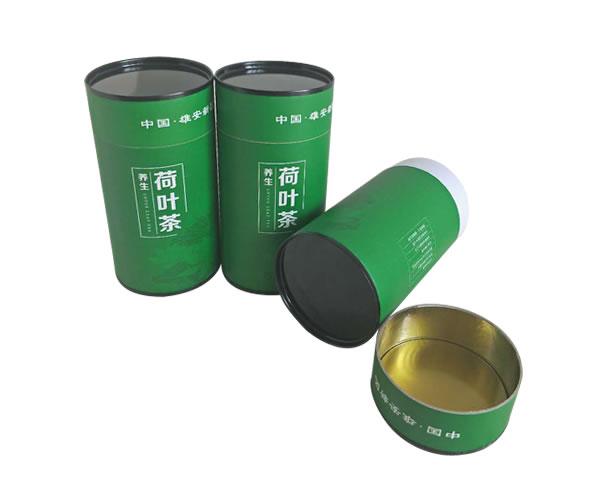 荷叶茶纸罐